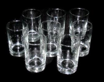 Vintage Juice Glass Set, Juice Glasses, Double Shot Glasses, Drinkware, Bareware, Glass Set Of 8