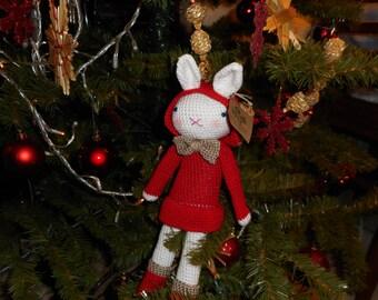 Christmas Crochet Bunnie