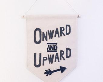 Onward and Upward Canvas Banner