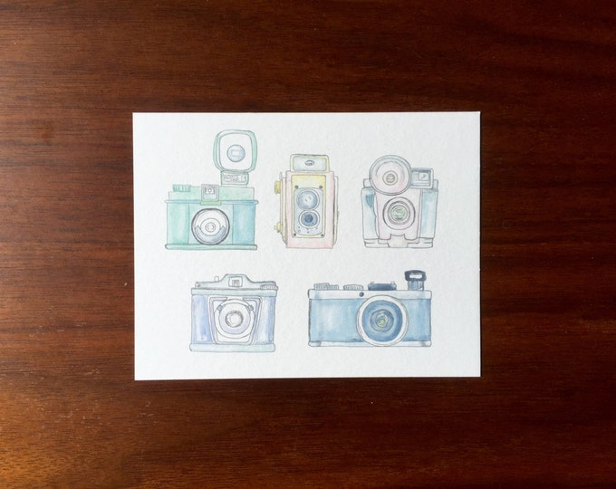 Vintage Camera Postcards multipack post cards letter card mailing postal holiday travel notecard notes logo free