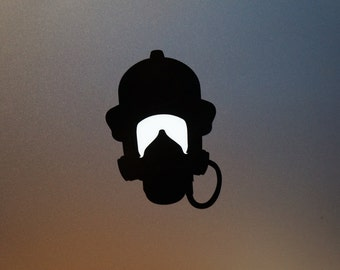Firefighter macbook light up sticker