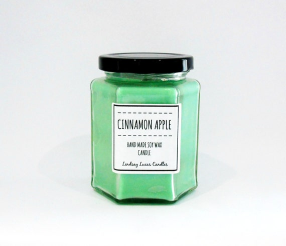 Cinnamon Apple Scented Candle Strong By Lindsaylucascandles