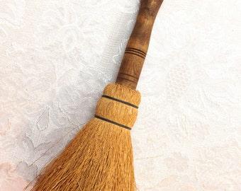 Primitive Decorative Folk Artisan Decorative Brush Broom with Wood Handle