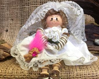 Wedding Troll Folk Art