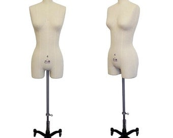 New Lingerie and Bridal Professional Dress Form Mannequin (w/ Pole in Middle) - Dressmaker Mannequin for Sale - FREE SHIPPING!