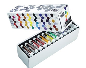Acrylic Paint Set; Tube, 48 Piece Acrylic Paint Art Set