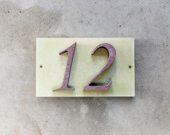 2-digit number from sandstone 25x15cm