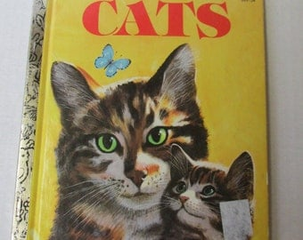 Vintae Childrens Book CATS 309-54 / 1979 / Little Golden Book / Laura French / Mel Crawford