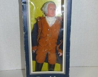 Vintage George Washington Doll Hero of the American Revolution Collectible George Washington Figure