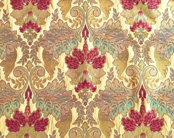 Swavelle/Millcreek Floral Upholstery Fabric Gold