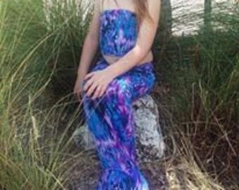Mermaid tail Caribbean Reef Purple Tang with top
