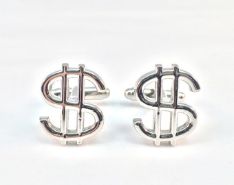 Dollar Sign Cuff Links
