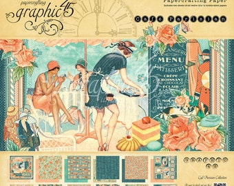 Graphic 45 Cafe Parisian 12x12 Paper Pad, SC007664