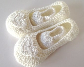 Mother and Baby crochet slippers. Mothers daygift .Mother and Baby gift. Baby shower gift. Non- slip sole .