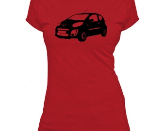 Citroen C1. Car.  Ladies fitted t-shirt.