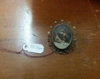 Antique 800 Silver Pin
