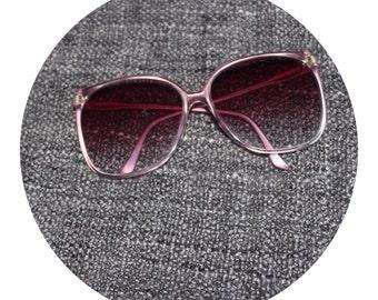 70's Oversized Light Purple Sunglasses