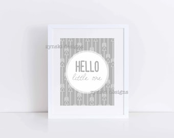 Hello Little One with Arrows - 8x10 Print