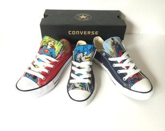 DC Comics Converse Shoes, Justice League Shoes, Superman Converse, Batman, Wonderwoman Supergirl, The Flash Converse, Green Lantern