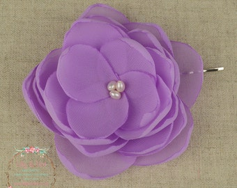 Lilac - Hair Flower - Pastel Purple - Lilac Accessory - Bridesmaid Hair - Lilac Wedding - Lilac Hair Flower - Flower Girls - Purple