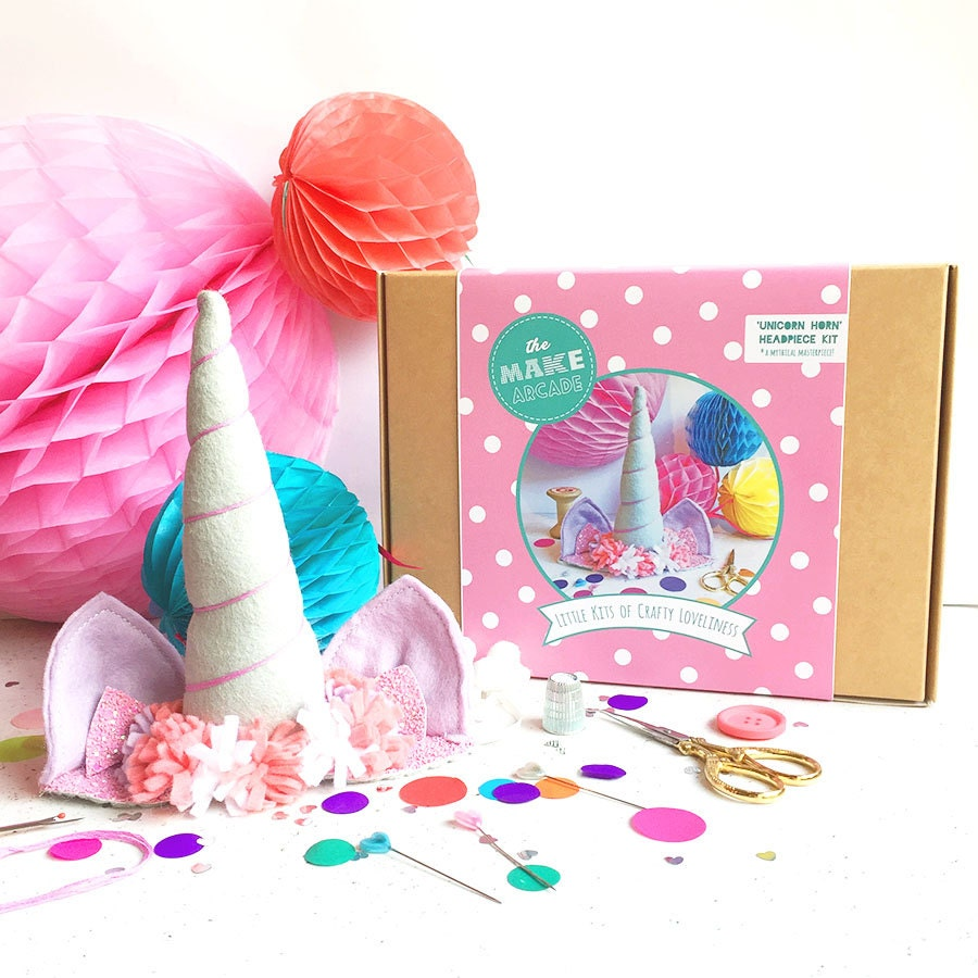 Arts and craft kits - Unicorn Diy Kit Unicorn Crafts Felt Craft Craft Kits Kids Costume