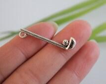 wholesale-20pcs Antique Silver Golf Charm Pendant --- Tibetan Silver Tone, Vintage Jewelry Suplies ---- 32mm*8mm