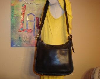 Black Leather Coach Zip Legacy Cross Body Shoulder Bag/No Hangtag