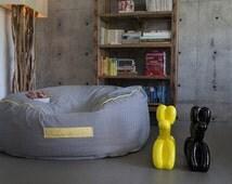 Large beanbag chair,round bean bag , floor cushion , ,beanbag chair ,Bean Bag, Teenagers Bean Bag, Adults beanbag, patio furniture.