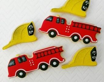 Firetruck and Helmet Sugar Cookies(12)