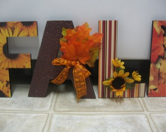 Fall Decorations-Fall Decor-Fall Letters-Fall Wall Decor-Fall Chipboard Letters