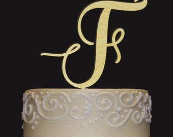 custom elegant rustic cake topper personalized monogram initial letter topper any occasion topper bridal shower wedding anniversary bd