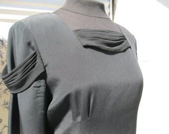 Rare Ildi Marshall  Vintage Black Silk Dress  Sale 90.00 was 120.00