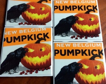 New Belgium Pumpkick Beer Coasters
