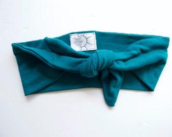 Dark Teal KNOT Headband // Teal Headband, Adult Headband, Toddler Headband, Infant Headband