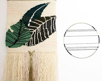 Organical Botanical Weaving Decoration, Tapestry Wall Hanging