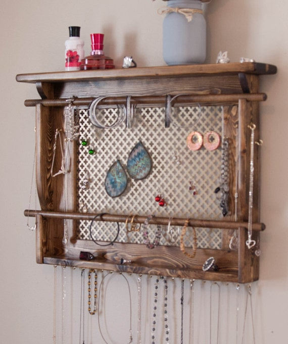 Jewelry Organizer Large Wall Mounted Jewelry Holder By