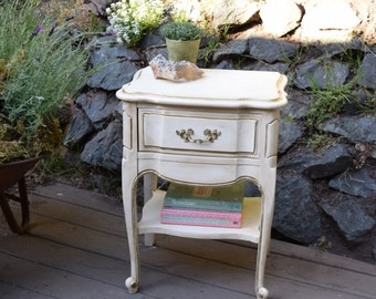 SOLD***Vintage French Provincial Nightstand, Cottage Style Nightstand***SOLD