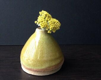 Ceramic Lime Green Bud Vase