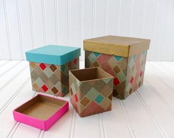 Decorative Nesting Box Set, Gift Boxes, Storage Boxes