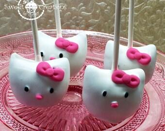 Hello Kitty inspired Cake Pops
