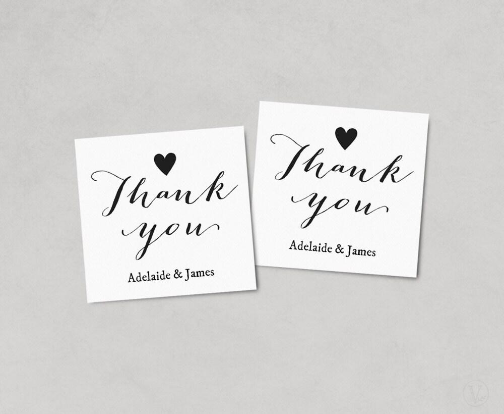 Thank You Favor Tags, Printable Wedding Favor Tag Template, Thank ...