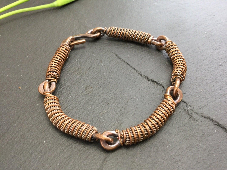 mens copper bracelet unisex cuff men copper bracelet gift. Black Bedroom Furniture Sets. Home Design Ideas