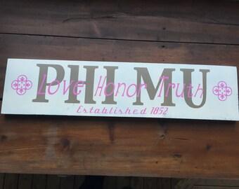Phi Mu Sign