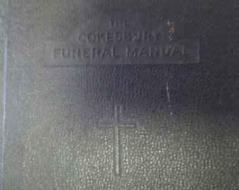 1932 The Cokesbury Funeral Manual Leather bound Gold pages