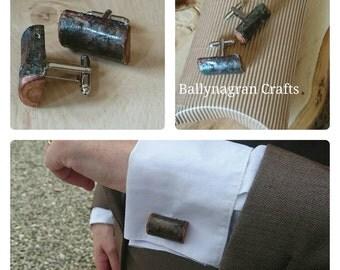 Log slice cufflinks