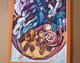 Steven Universe Gouache Painting