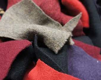 Fabric Sale - Boiled Wool Mix Scraps