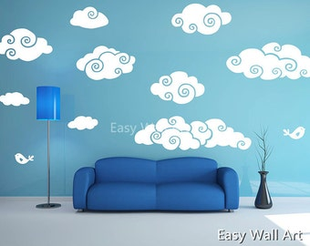 Clouds Wall Decal, Clouds Wall Decal For Bedroom, Office U0026 Plane Cloud Wall  Decal