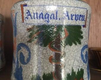 Anagal Arueu apothecary pharmacy jar