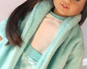 Super Plush robe and pajamas for 18 inch dolls like American Girl and Our Generation